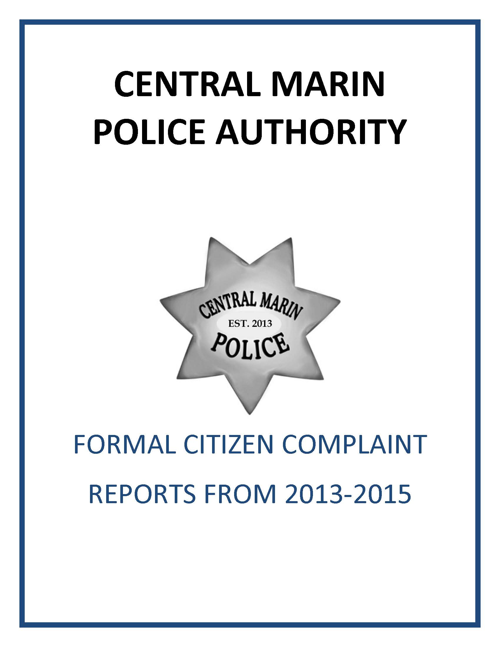 CITIZEN COMPLAINT COVER