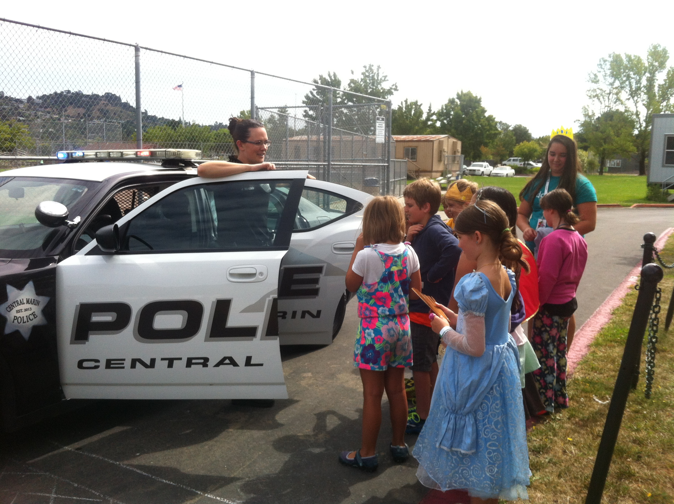 Officer Jenna McVeigh with Camp Kids